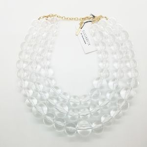 OS |Sugarfix Baublebar Clear Bead 3 Layer Necklace